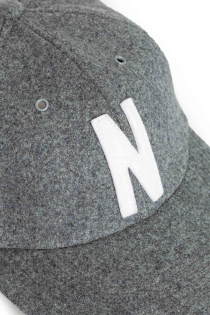 Norse Projects Wool Sports Cap - Light Grey Melange 1026
