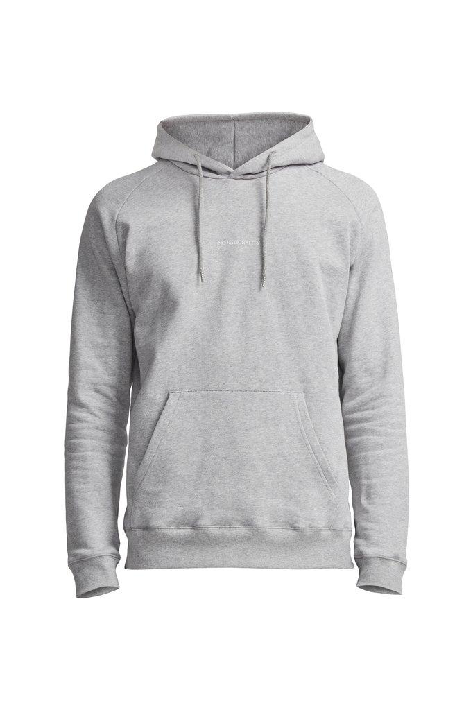 NN07 barrow printed hoodie 3385 - grey