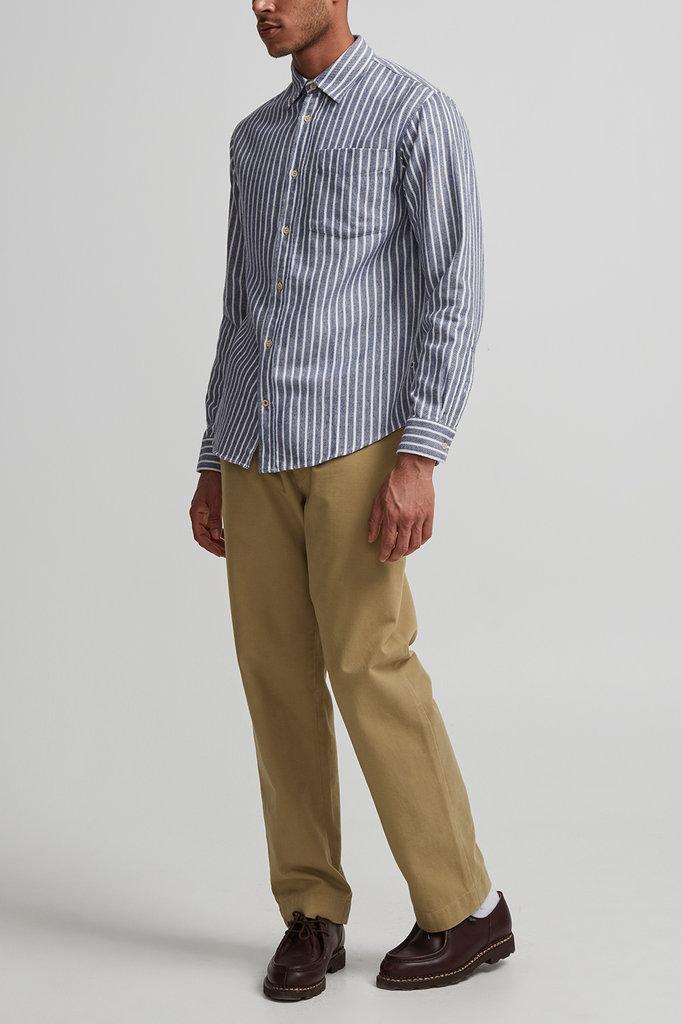 NN07 levon shirt 5166 - navy stripe