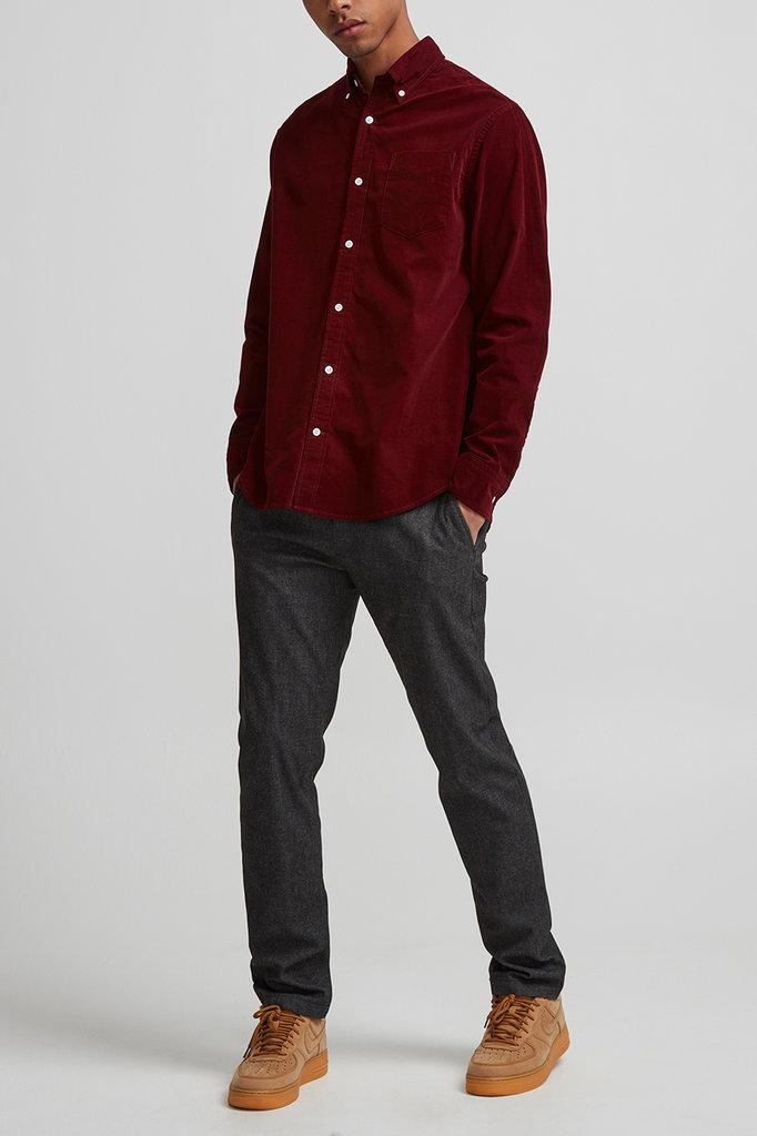 NN07 levon bd shirt 5723 - wine red