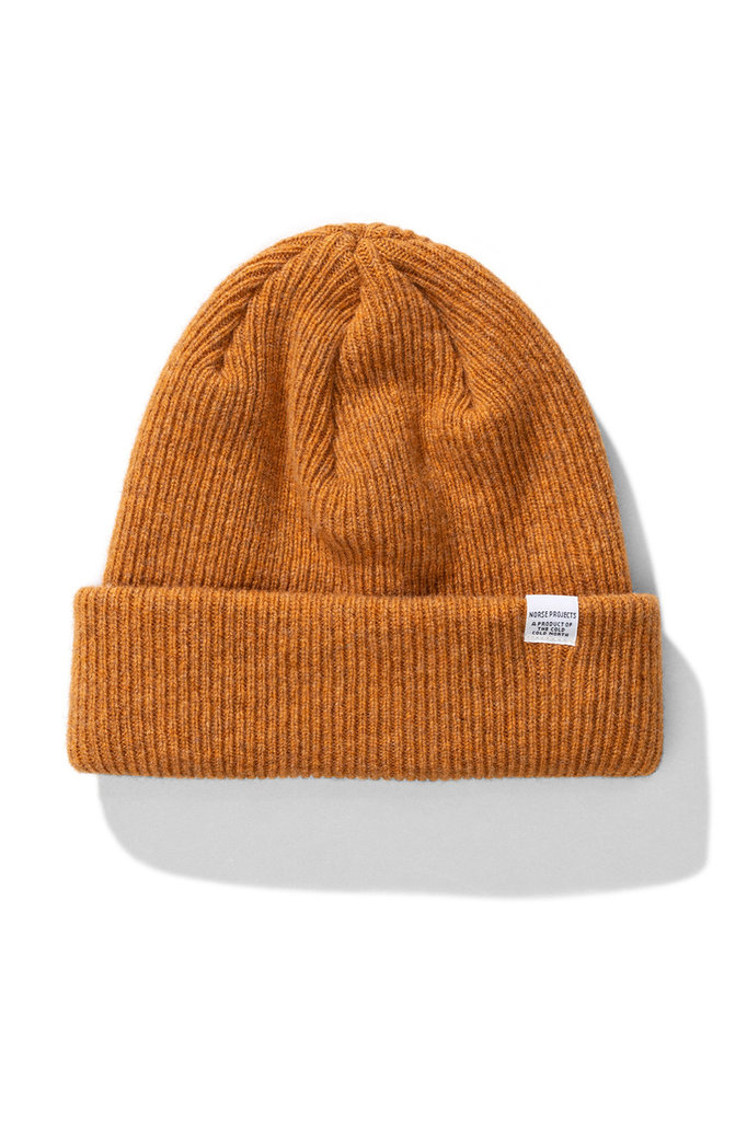 Norse Projects beanie - montpellier yellow