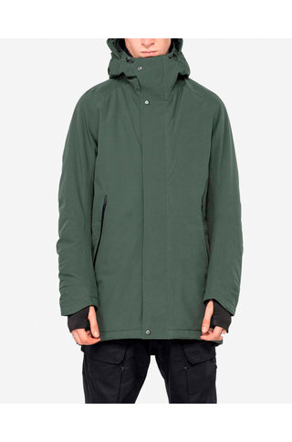 technical parka qm214 - duffle green