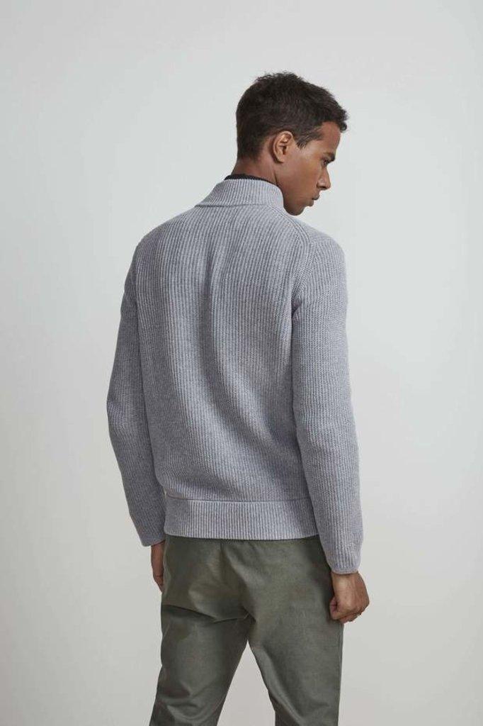 NN07 piet 6371 zip knit - grey mel