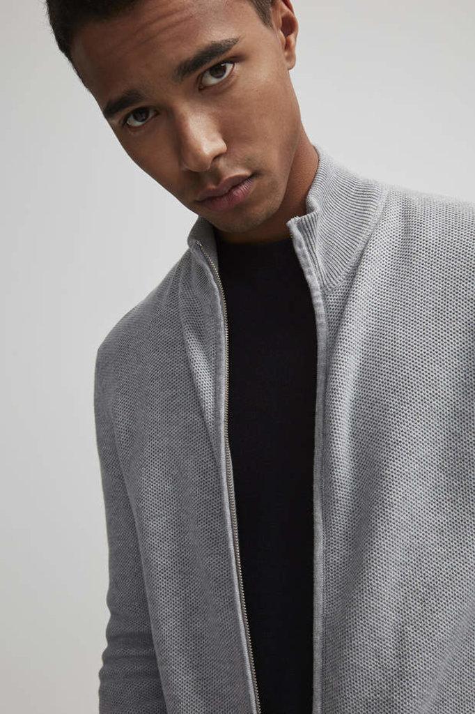 NN07 patrick 6194 knit - grey mel