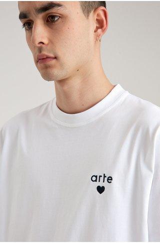 arte thomas heart tshirt - white