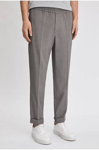 filippa k terry cropped pants - mid grey