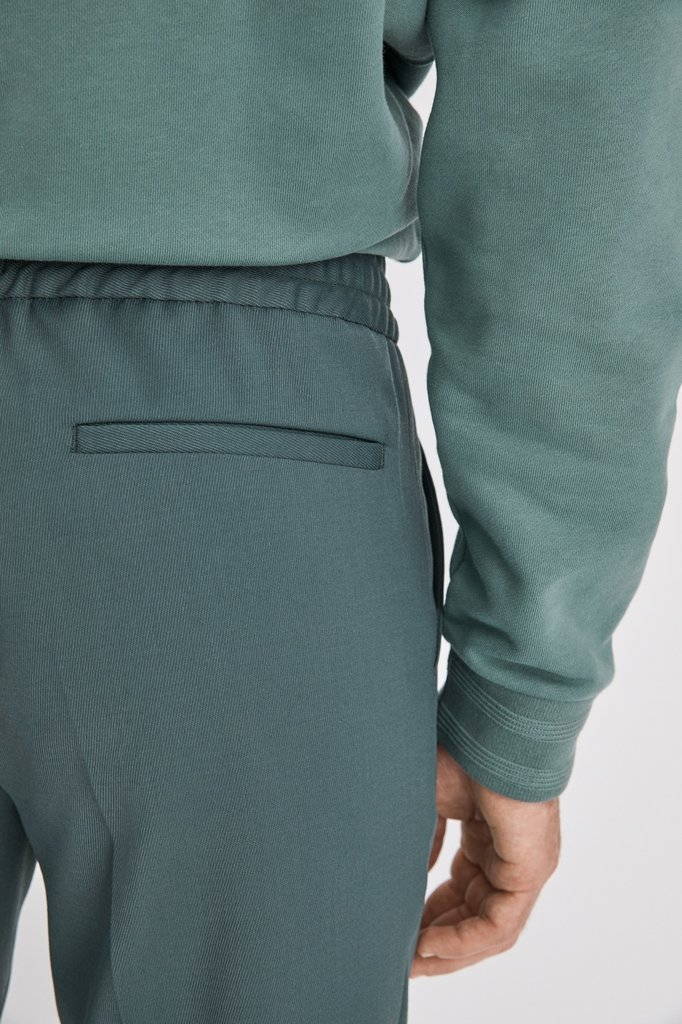 Filippa K terry cropped pants - dark mint