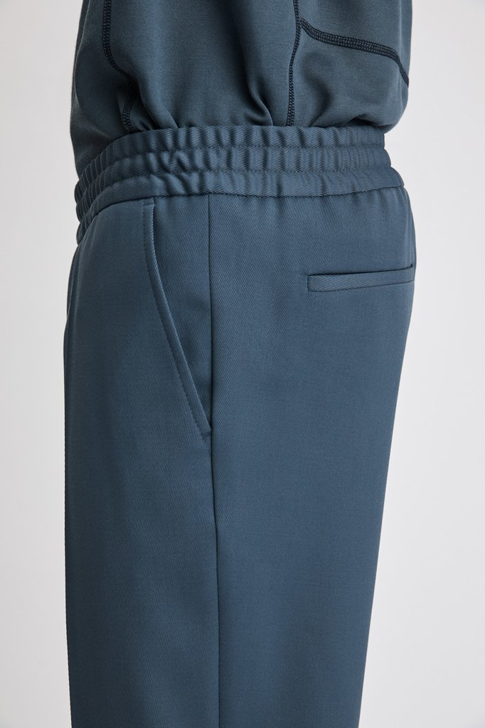 filippa k terry cropped pants - blue grey