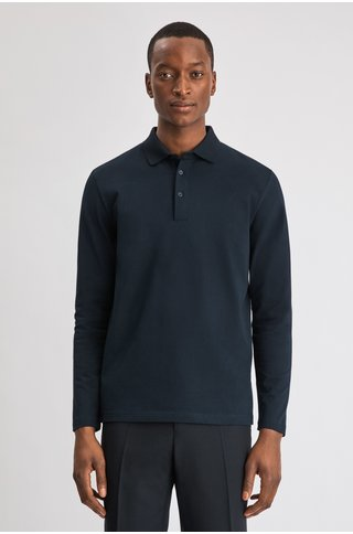 filippa k luke lycra polo ls - navy