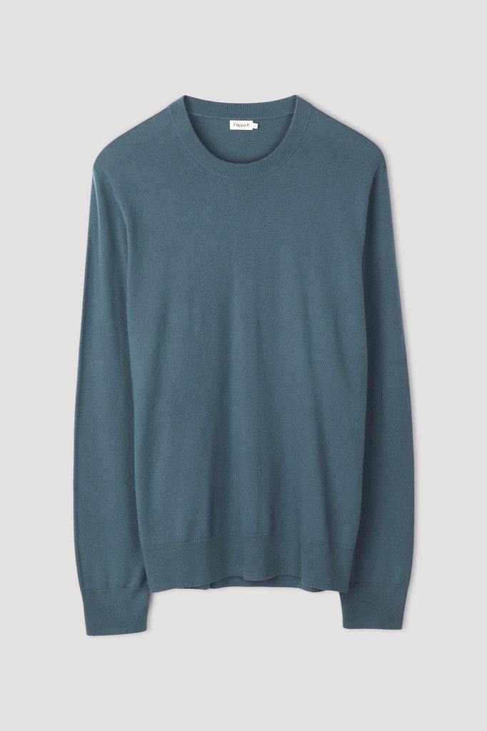 Filippa K cotton merino sweat - blue grey