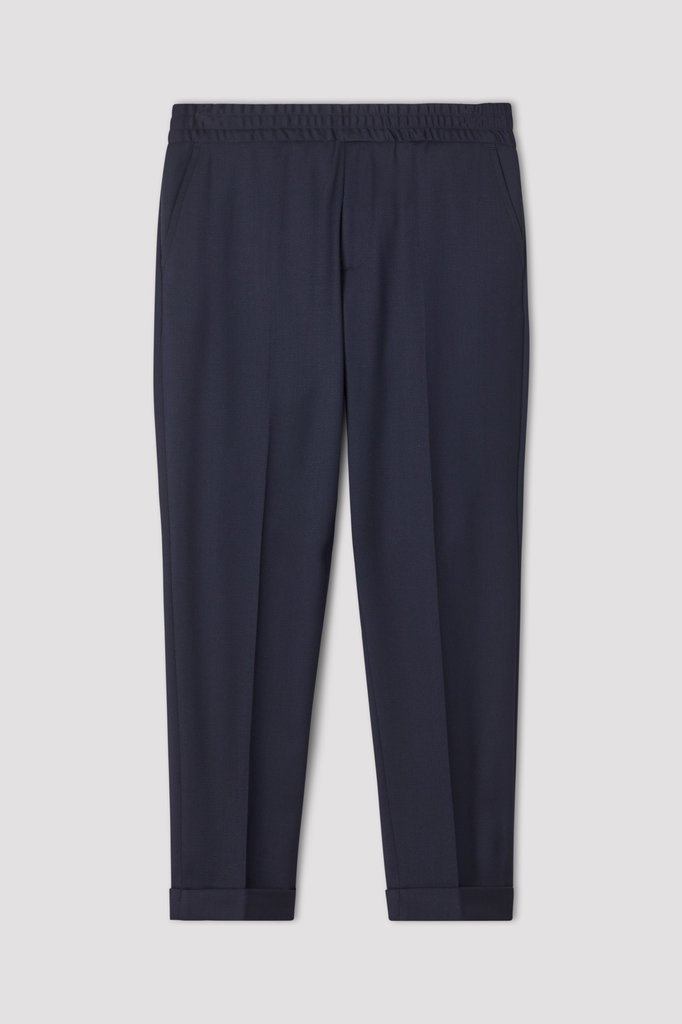 Filippa K terry cropped pants - navy