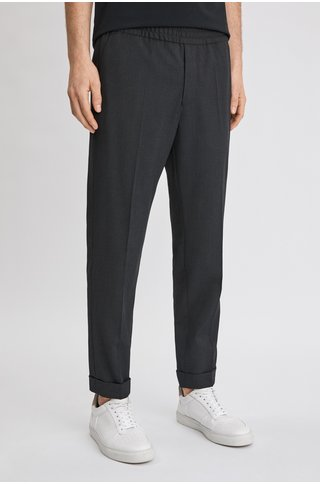 Filippa K terry cropped pants - anthracite