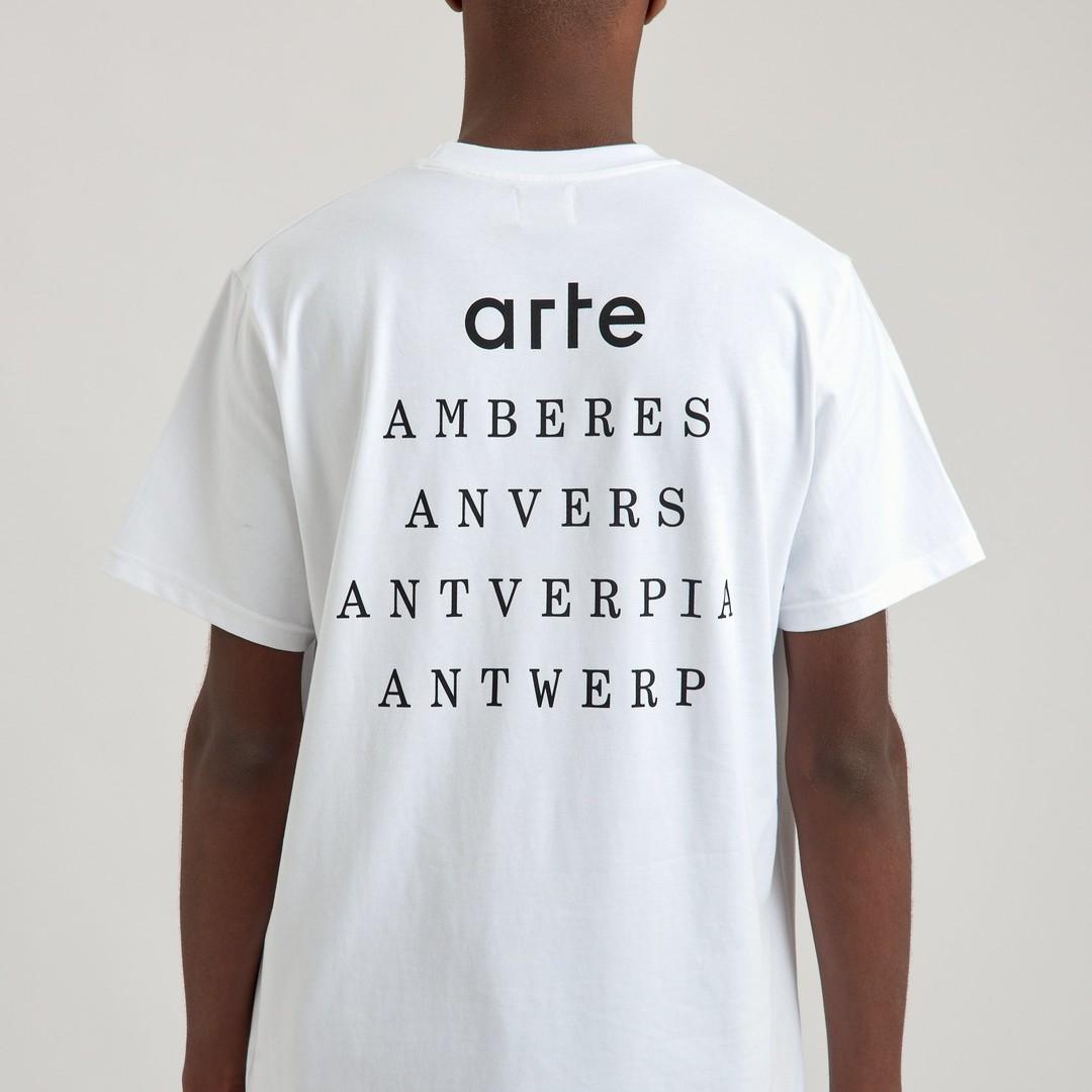 arte thomas antiverpia tshirt - white