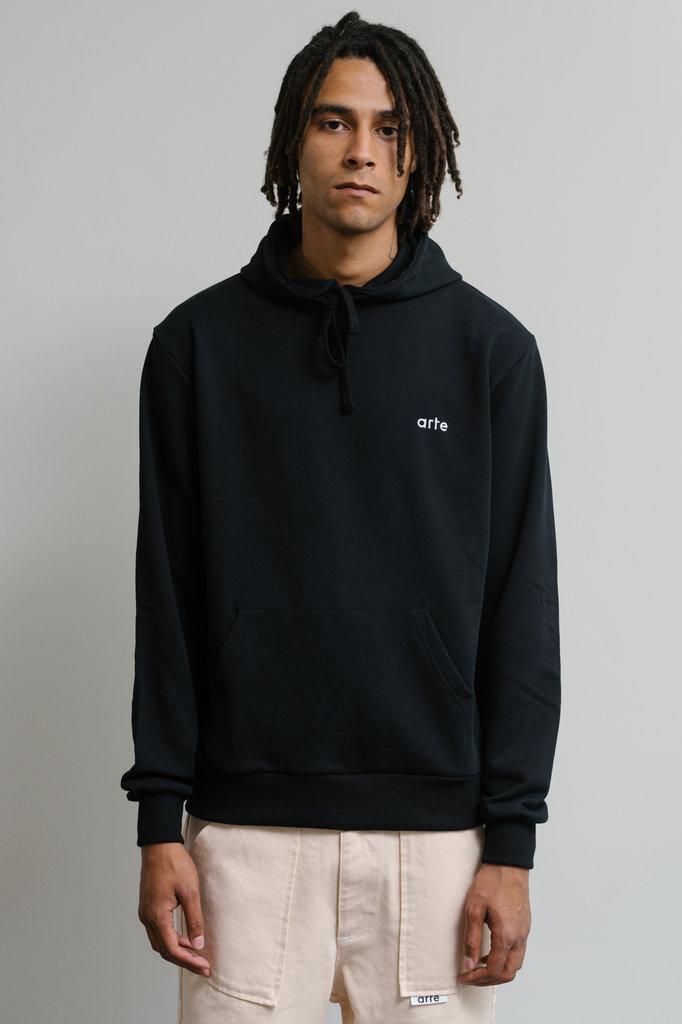 Arte hick hoodie - black