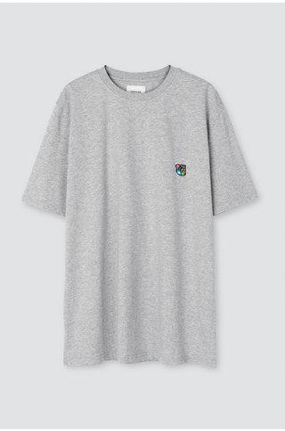Tonsure frank tshirt - grey mel