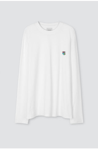Tonsure david ls tshirt - white