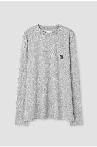 Tonsure david ls tshirt - grey mel