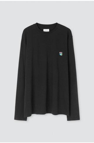 Tonsure david ls tshirt - black