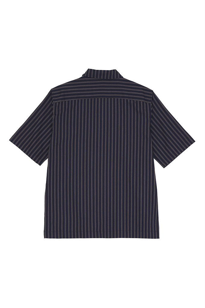 s han boxy shirt - navy stripe