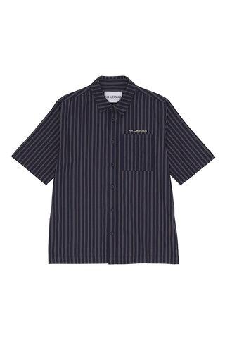 han boxy shirt - navy stripe