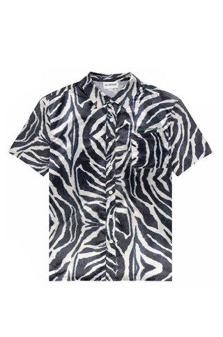 han boxy shirt - zebra satin