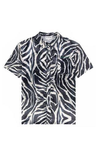 s han boxy shirt - zebra satin