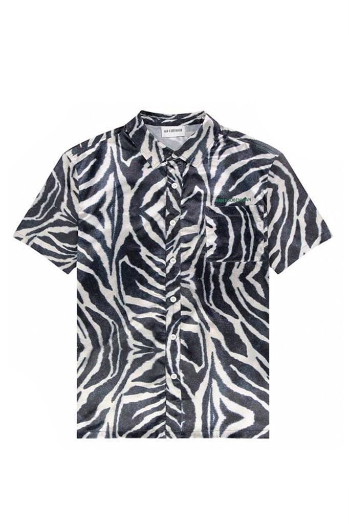 han kjobenhavn han boxy shirt - zebra satin