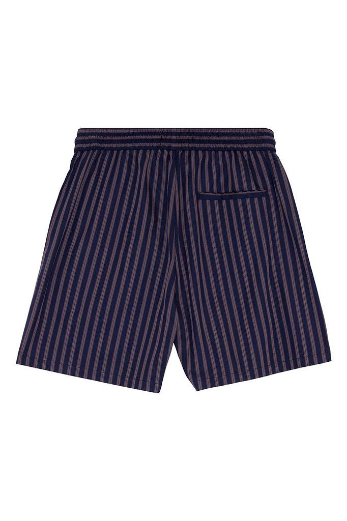 s han track short - navy stripe