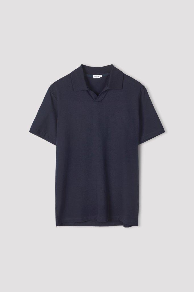 filippa k lycra ss polo tshirt - navy