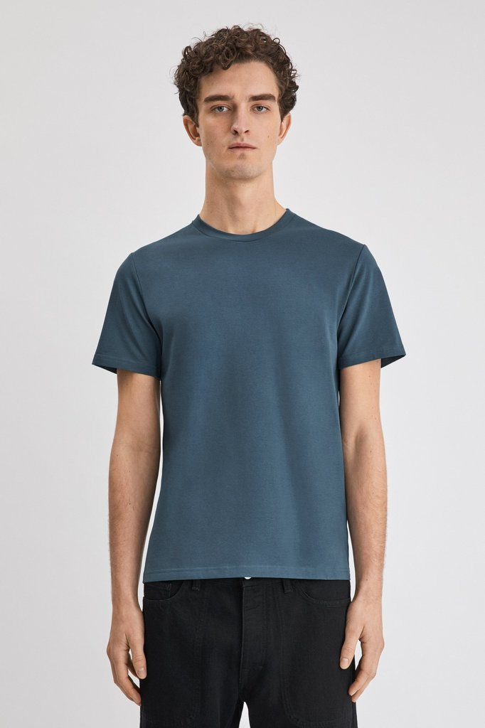 Filippa K soft lycra tee - blue grey