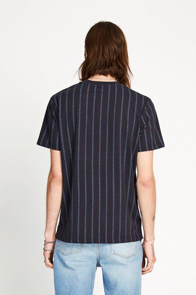 won hundred troy logo tshirt - night sky stripe