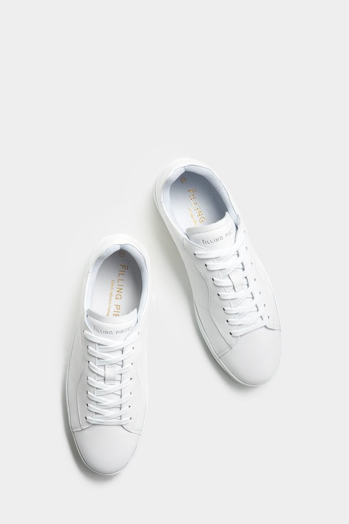 filling pieces low plain court - all white