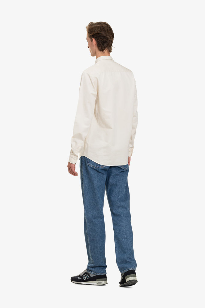 norse project anton denim shirt - ecru