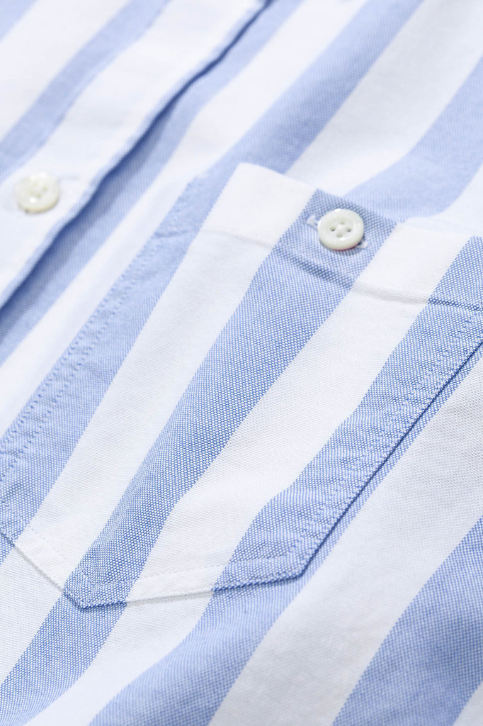 norse project anton oxford shirt - pale blue stripe