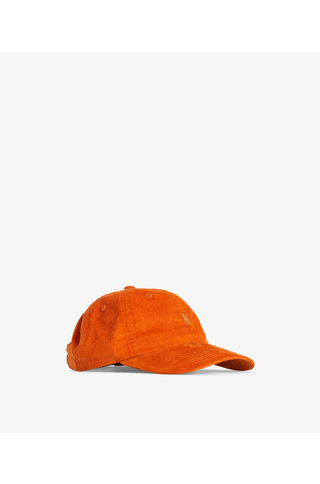 norse project baby corduroy sports cap - cadmium orange