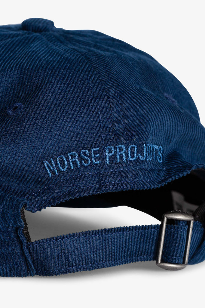 norse project baby corduroy sports cap - twilight blue