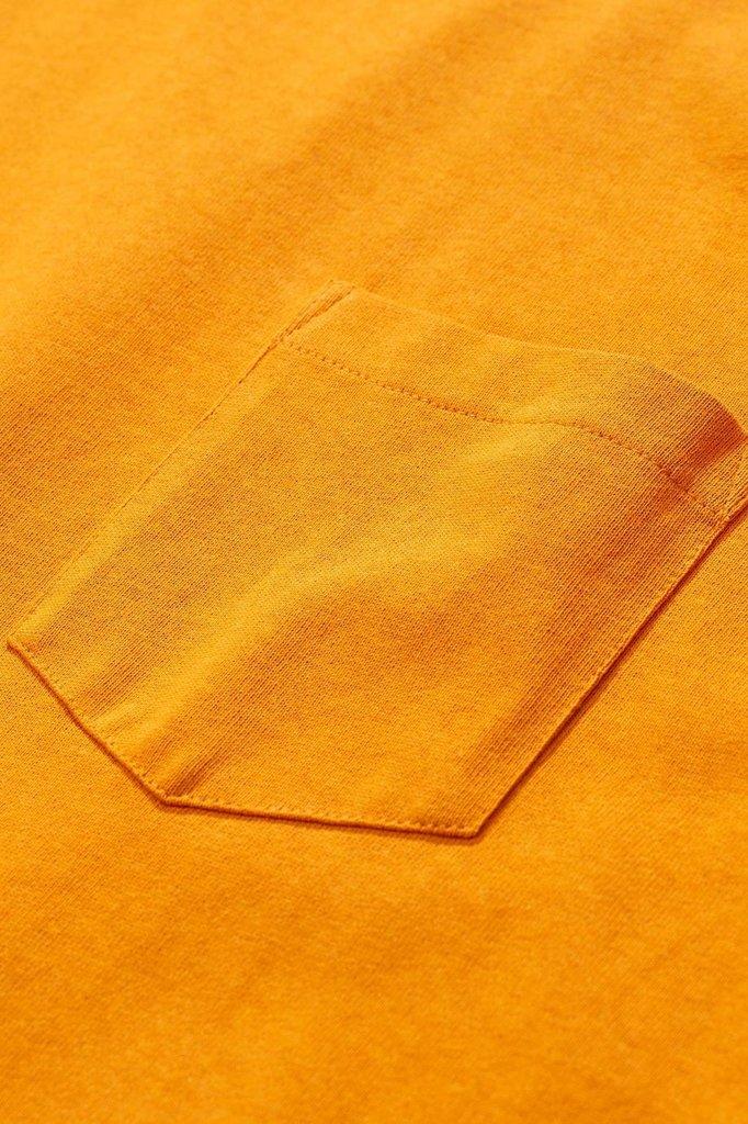 norse project johannes pocket tshirt - cadmium orange