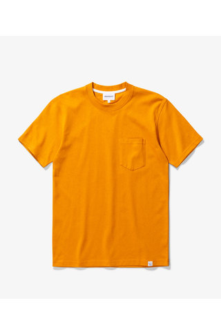norse project johannes pocket tshirt - cadmium orange