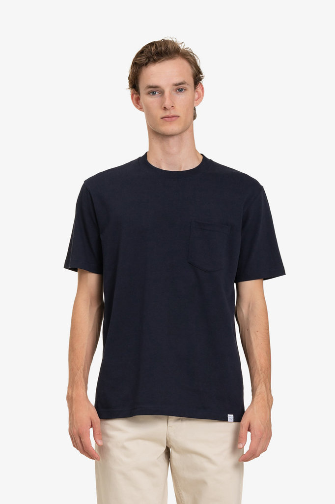 norse project johannes pocket tshirt - darky navy