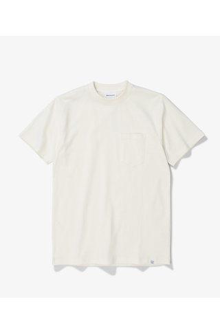 norse project johannes pocket tshirt - ecru