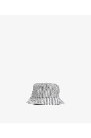 norse project seersucker bucket hat - navy stripe