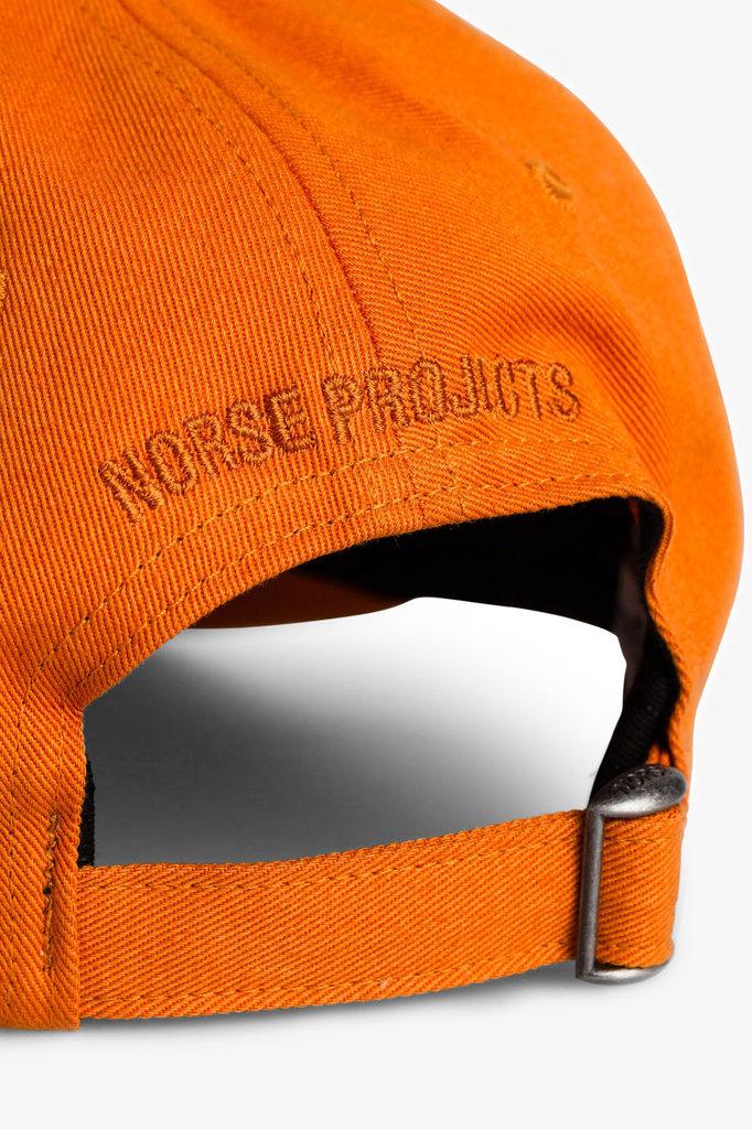norse project twill sports cap - cadmium orange