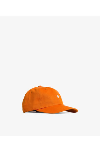 norse project twill sports cap - cadmium orange
