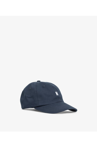 norse project twill sports cap - dark navy