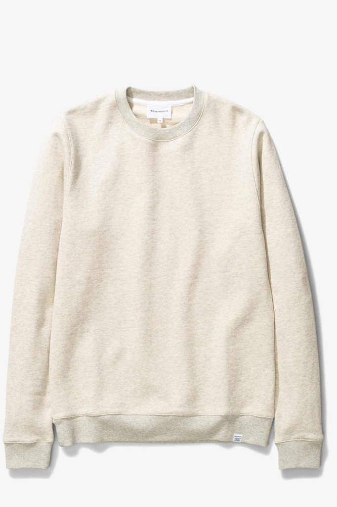 norse project vagn classic crew - oatmeal mel.