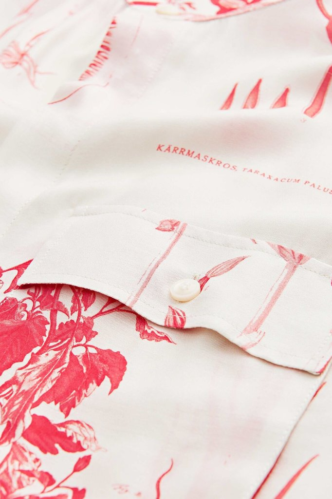 tiger of sweden lacteus print shirt - off white pink