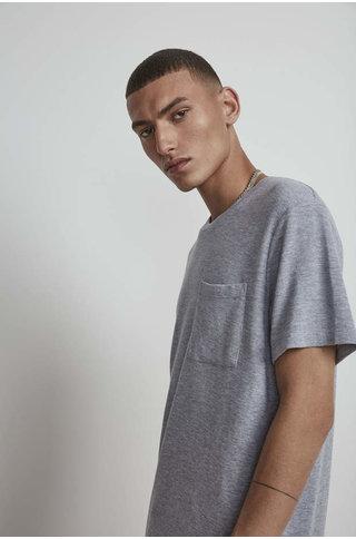 nn07 clive 3323 tshirt - grey mel