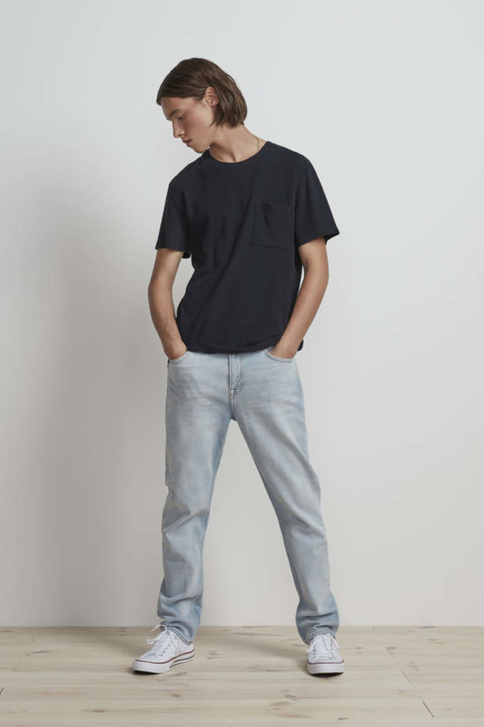 nn07 clive 3323 tshirt - navy blue