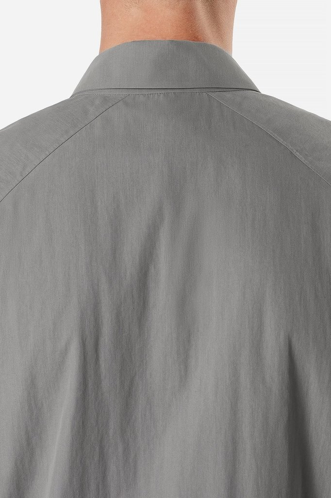 veilance component over shirt - stone