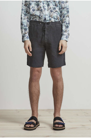 nn07 seb 1235 shorts linen - dark grey